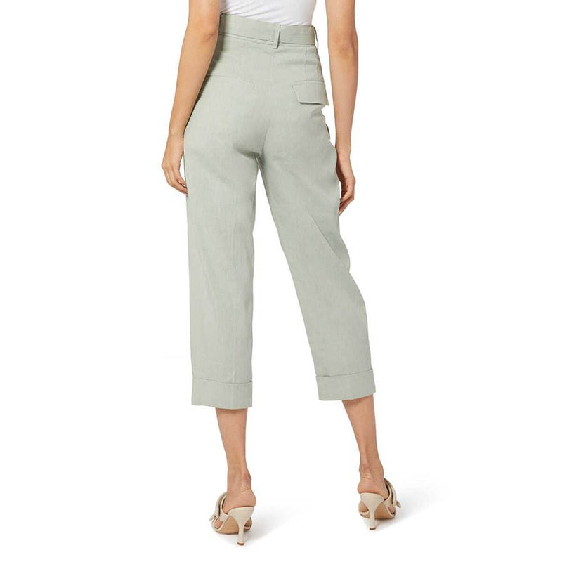 Oroton Belted Tailored Cropped High Waisted Pant Trousers RRP$429 Zoom Boutique Store pants Oroton Belted Cropped High Waisted Pant Trousers | Zoom Boutique