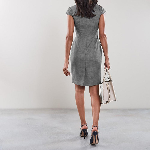 Reiss Alber V Neck Tailored Pencil Wool Stretch Dress RRP$345 Zoom Boutique Store dress Reiss Alber V Neck Tailored Pencil Wool Stretch Dress | Zoom Boutique