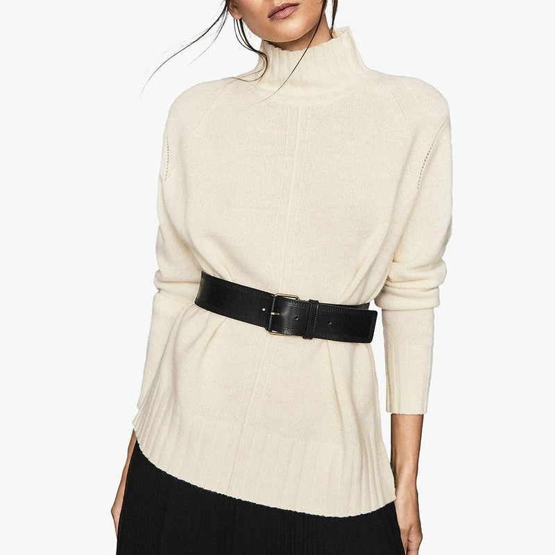 Reiss Bonnie Wool Cashmere Blend Rollneck Knit Jumper RRP$275 Zoom Boutique Store jumper Reiss Bonnie Wool Cashmere Blend Rollneck Knit Jumper | Zoom Boutique