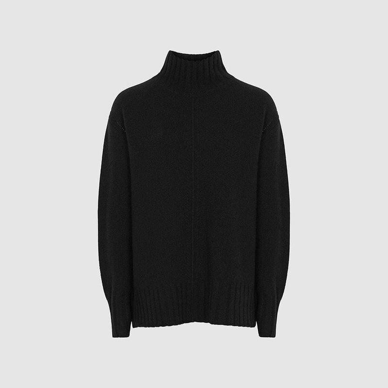 Reiss Bonnie Wool Cashmere Blend Rollneck Knit Jumper RRP$275 XS / Black Zoom Boutique Store jumper Reiss Bonnie Wool Cashmere Blend Rollneck Knit Jumper | Zoom Boutique