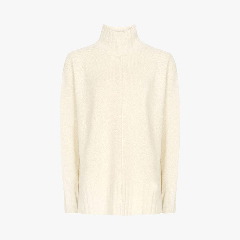 Reiss Bonnie Wool Cashmere Blend Rollneck Knit Jumper RRP$275 XS / Ivory Zoom Boutique Store jumper Reiss Bonnie Wool Cashmere Blend Rollneck Knit Jumper | Zoom Boutique