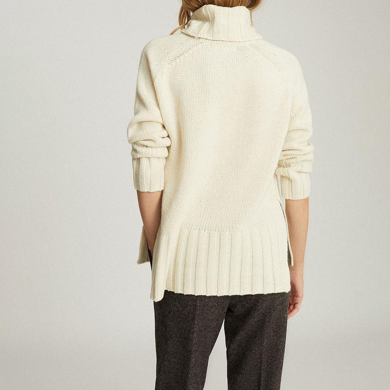 Reiss Eve Wool Cashmere Blend Roll Neck Knit Jumper RRP$275 Zoom Boutique Store jumper Reiss Eve Wool Cashmere Blend Roll Neck Knit Jumper | Zoom Boutique