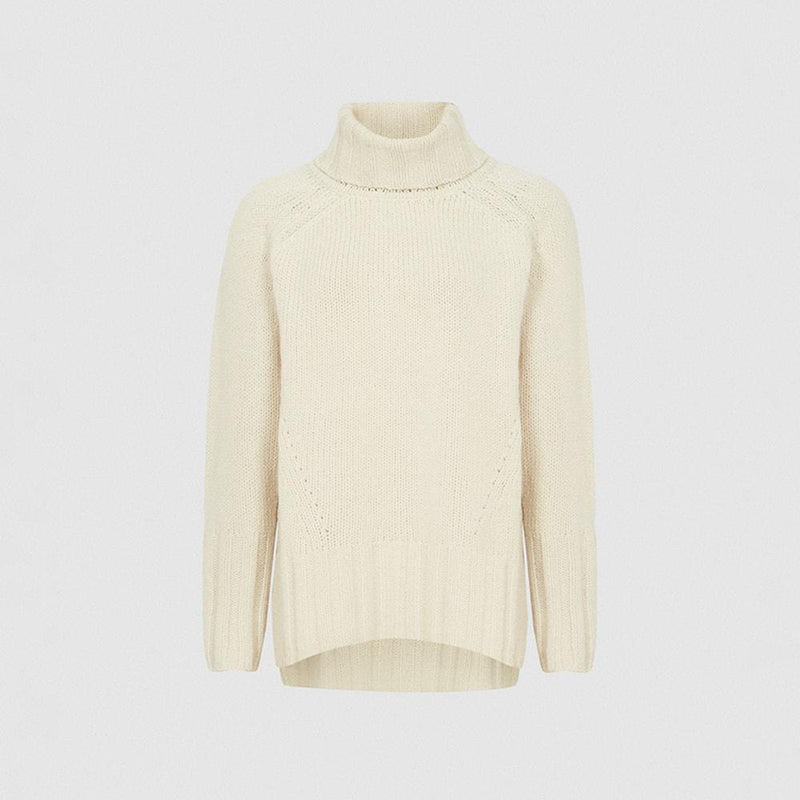 Reiss Eve Wool Cashmere Blend Roll Neck Knit Jumper RRP$275 XS / Ivory Zoom Boutique Store jumper Reiss Eve Wool Cashmere Blend Roll Neck Knit Jumper | Zoom Boutique