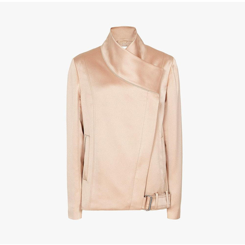 Reiss Harriet Soft Single Press Stud Biker Jacket RRP$475 UK10 Zoom Boutique Store jacket Reiss Harriet Soft Single Press Stud Biker Jacket | Zoom Boutique