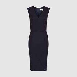 Reiss Hartley Wool Blend Textured Tailored Slim Fit Dress $330 - Zoom Boutique Store