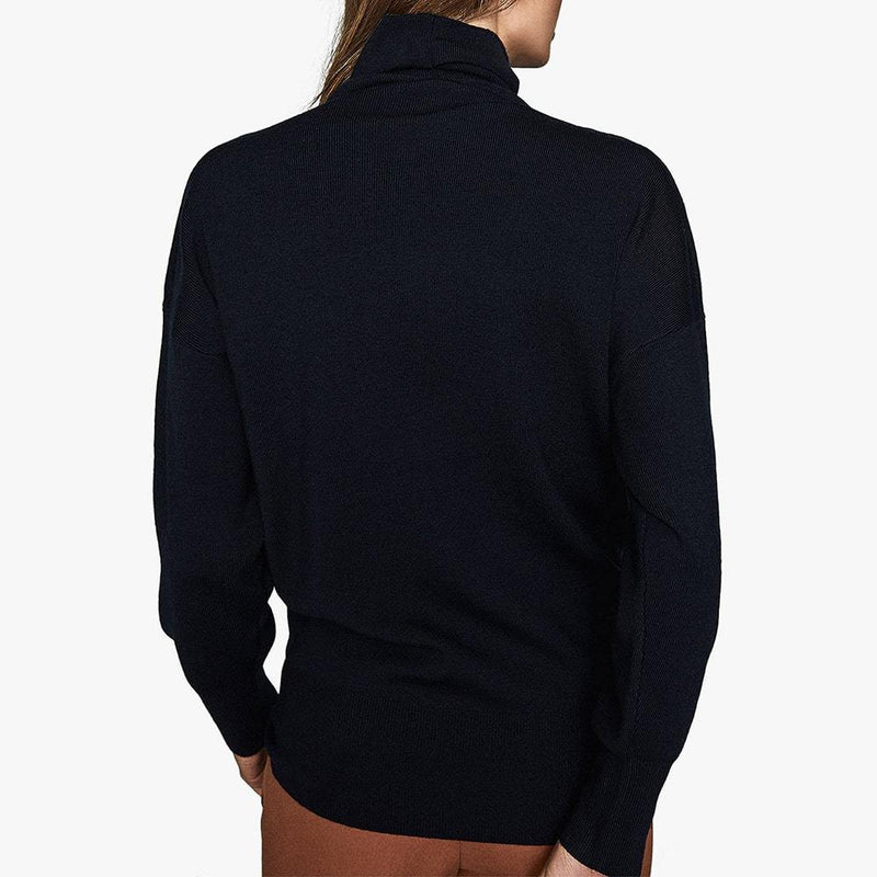 Reiss Kym Cowl Roll Turtle Neck Dropped Shoulder Jumper RRP$275 Zoom Boutique Store jumper Reiss Kym Cowl Roll Turtle Neck Dropped Shoulder Jumper| Zoom Boutique