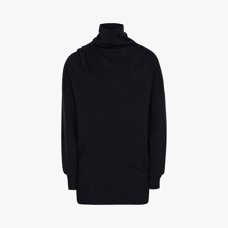 Reiss Kym Cowl Roll Turtle Neck Dropped Shoulder Jumper RRP$275 S / Blue Zoom Boutique Store jumper Reiss Kym Cowl Roll Turtle Neck Dropped Shoulder Jumper| Zoom Boutique