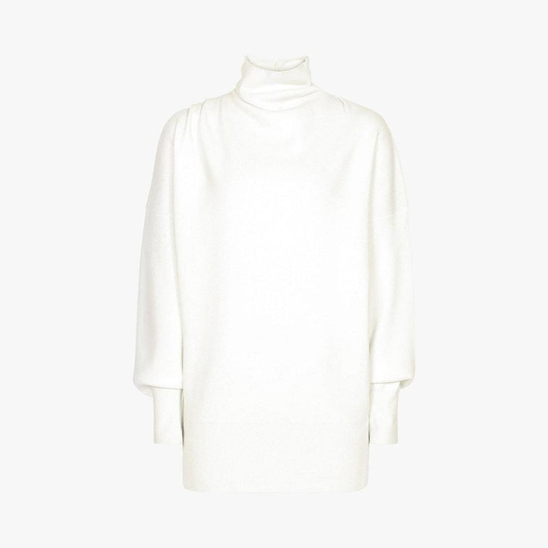 Reiss Kym Cowl Roll Turtle Neck Dropped Shoulder Jumper RRP$275 S / Ivory Zoom Boutique Store jumper Reiss Kym Cowl Roll Turtle Neck Dropped Shoulder Jumper| Zoom Boutique