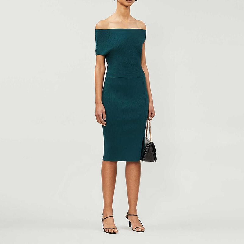 Reiss Lavinia Knitted Stretch Bodycon Midi Dress RRP$345 Zoom Boutique Store dress Reiss Lavinia Knitted Stretch Bodycon Midi Dress | Zoom Boutique
