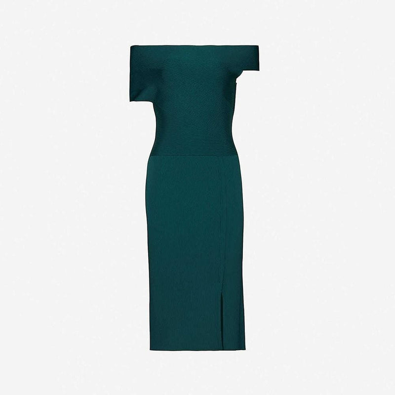 Reiss Lavinia Knitted Stretch Bodycon Midi Dress RRP$345 XS Zoom Boutique Store dress Reiss Lavinia Knitted Stretch Bodycon Midi Dress | Zoom Boutique