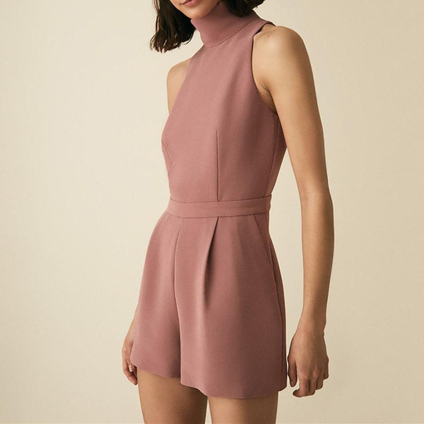 Reiss Lucille Open back High Neckline Tailored Playsuit RRP$325 Zoom Boutique Store playsuit Reiss Lucille Open back High Neckline Tailored Playsuit| Zoom Boutique