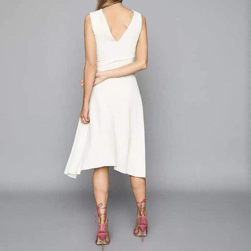 Reiss Marling Wrap Front Fit & Flare Midi Dress RRP$350 - Zoom Boutique Store