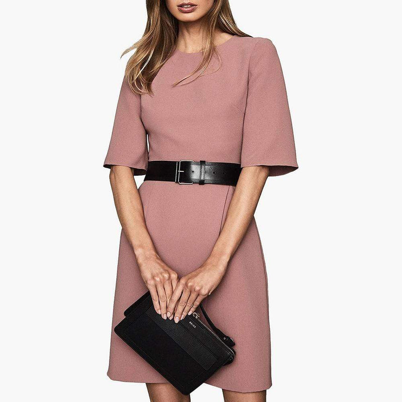 Reiss Myra Tailored Wrap Front Shift Dress RRP$350 Zoom Boutique Store dress Reiss Myra Tailored Wrap Front Shift Dress | Zoom Boutique