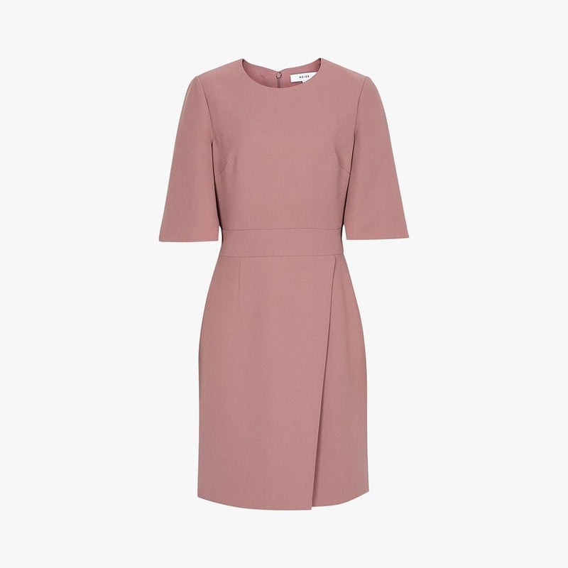 Reiss Myra Tailored Wrap Front Shift Dress RRP$350 UK6 Zoom Boutique Store dress Reiss Myra Tailored Wrap Front Shift Dress | Zoom Boutique