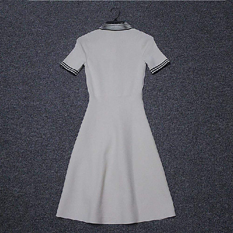 Sandro Knitted Polo Collar Fit & Flare Dress $295 - Zoom Boutique Store