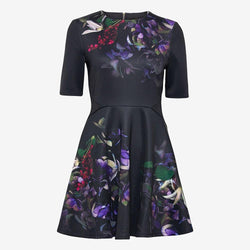 Ted Baker Alephie Pomegranate Skater Fit & Flare Mini Dress 0 Zoom Boutique Store dress Ted Baker Alephie Pomegranate Skater Fit Flare Dress | Zoom Boutique