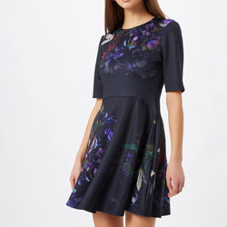 Ted Baker Alephie Pomegranate Skater Fit & Flare Mini Dress Zoom Boutique Store dress Ted Baker Alephie Pomegranate Skater Fit Flare Dress | Zoom Boutique