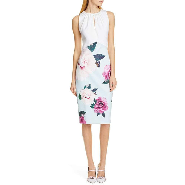 Ted Baker Annile Magnificent Ruched Body-Con Dress RRP$315 Zoom Boutique Store dress Ted Baker Annile Magnificent Ruched Body-Con Dress | Zoom Boutique