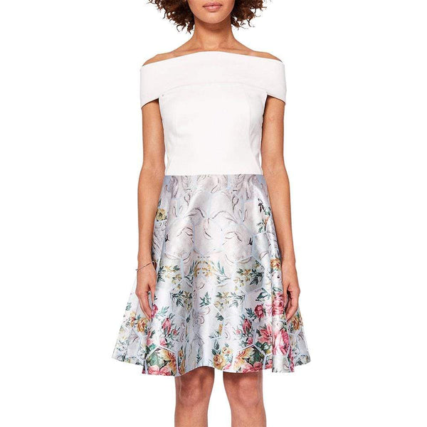 Ted Baker Atisana Patchwork Bardot Dress RRP$298 - Zoom Boutique Store
