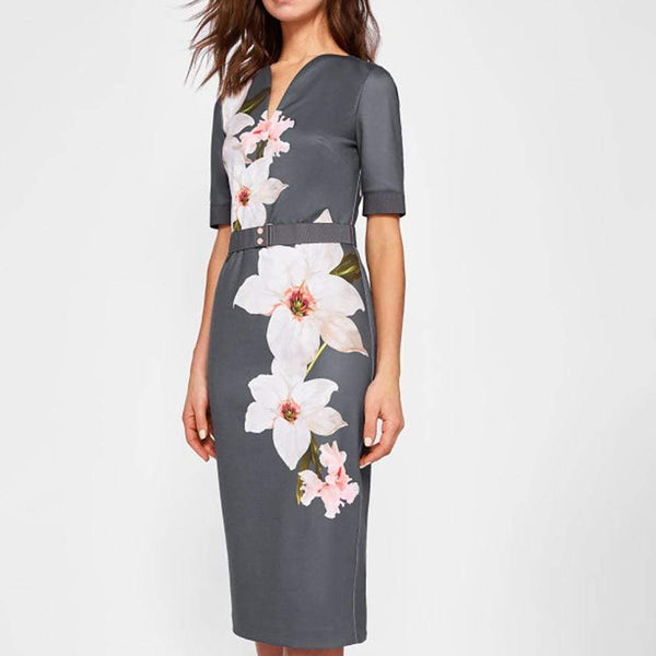 Ted Baker Bisslee Chatsworth Floral Bloom Bodycon Dress $315 0 Zoom Boutique Store dress