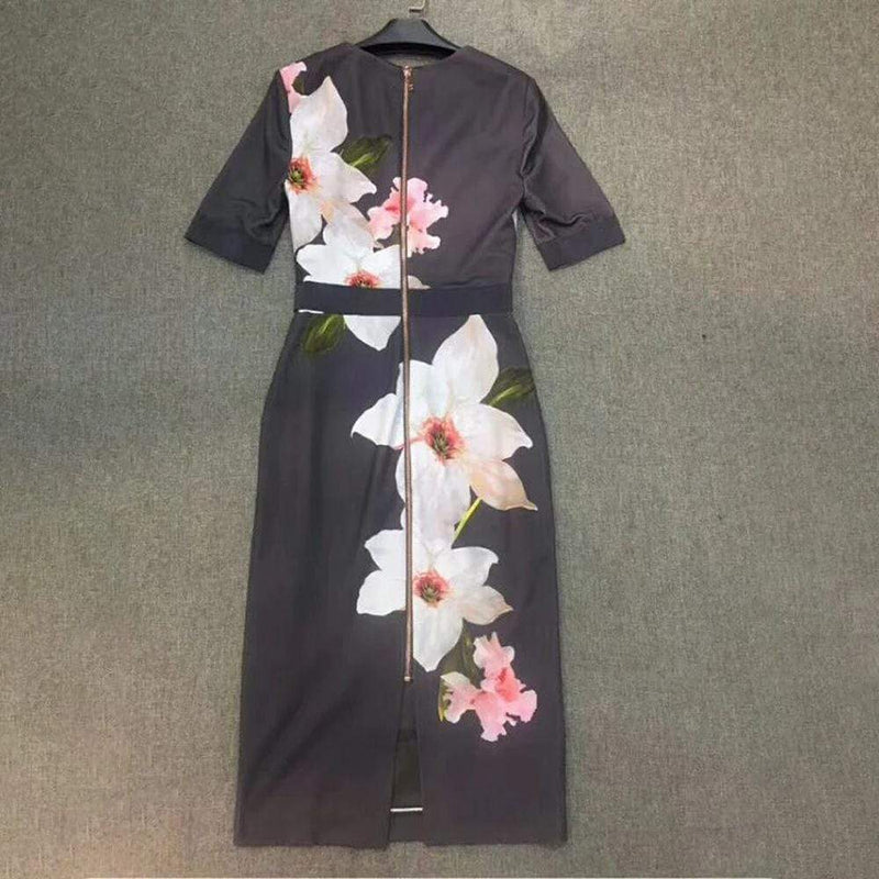 Ted Baker Bisslee Chatsworth Floral Bloom Bodycon Dress RRP$315 - Zoom Boutique Store