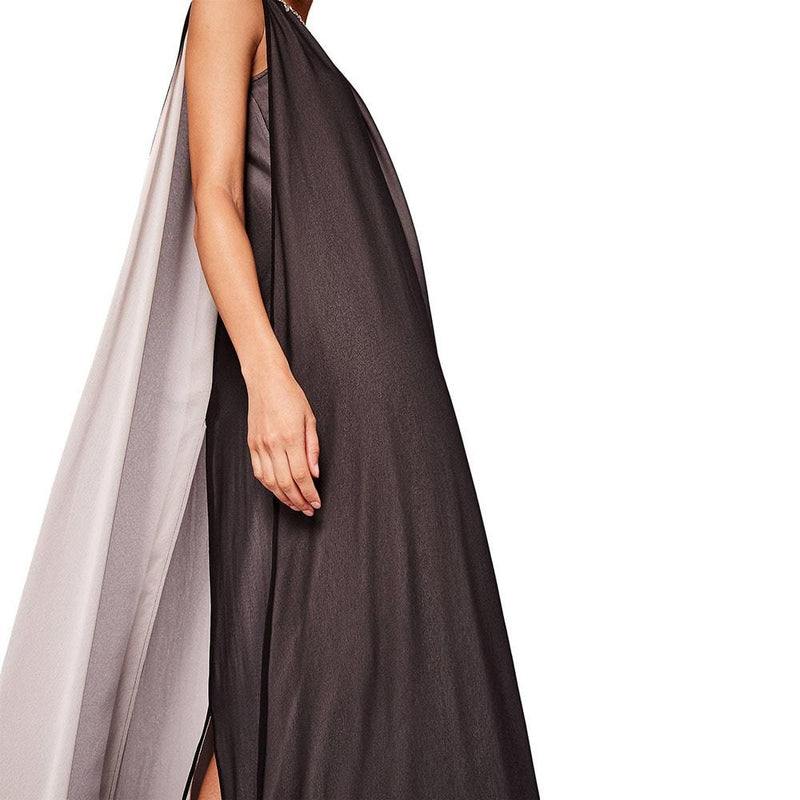 Ted Baker Black Ishani Neck Embellished Two Tone Maxi Dress 2 Zoom Boutique Store dress Ted Baker Black Ishani Embellished Two Tone Maxi Dress | Zoom Boutique