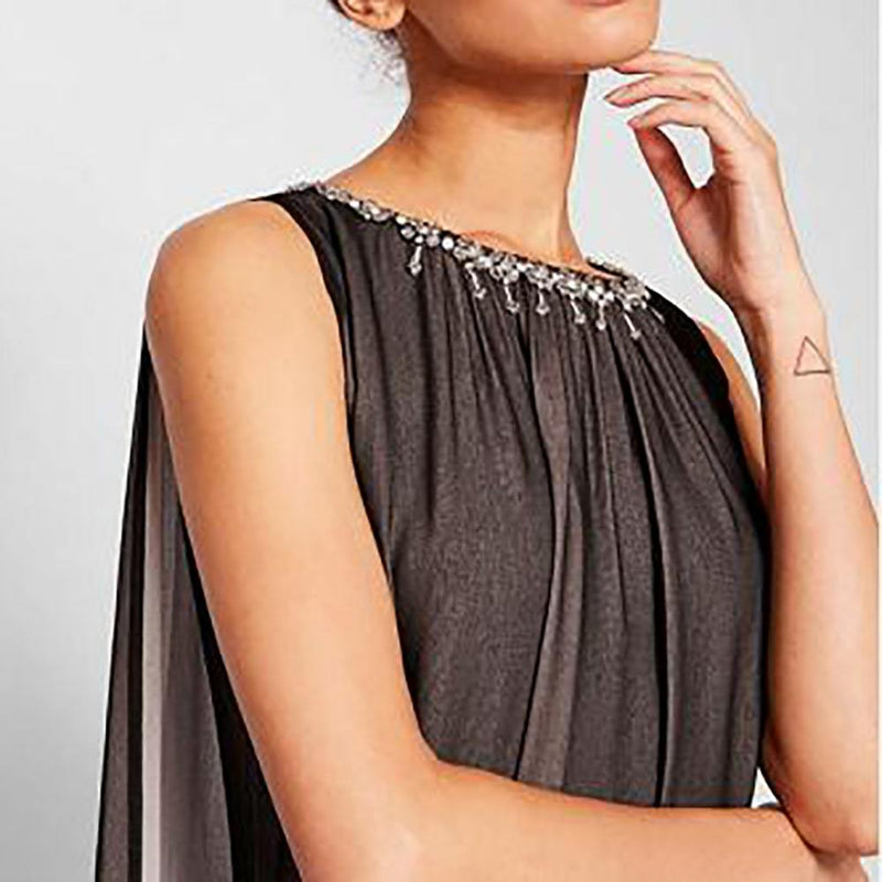 Ted Baker Black Ishani Neck Embellished Two Tone Maxi Dress Zoom Boutique Store dress Ted Baker Black Ishani Embellished Two Tone Maxi Dress | Zoom Boutique