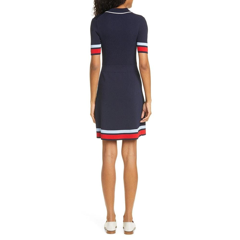 Ted Baker Blue Yniaa Stripe Detail Mockable Fitted Dress RRP$259 Zoom Boutique Store dress Ted Baker Blue Yniaa Stripe Detail Mockable Dress | Zoom Boutique