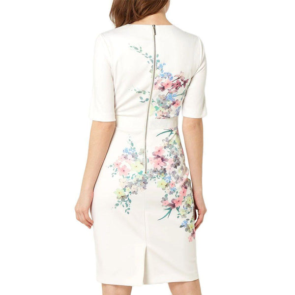 Ted Baker Camliaa Floral Jersey Bodycon Dress RRP$295 Zoom Boutique Store dress Ted Baker Camliaa Floral Jersey Bodycon Dress | Zoom Boutique