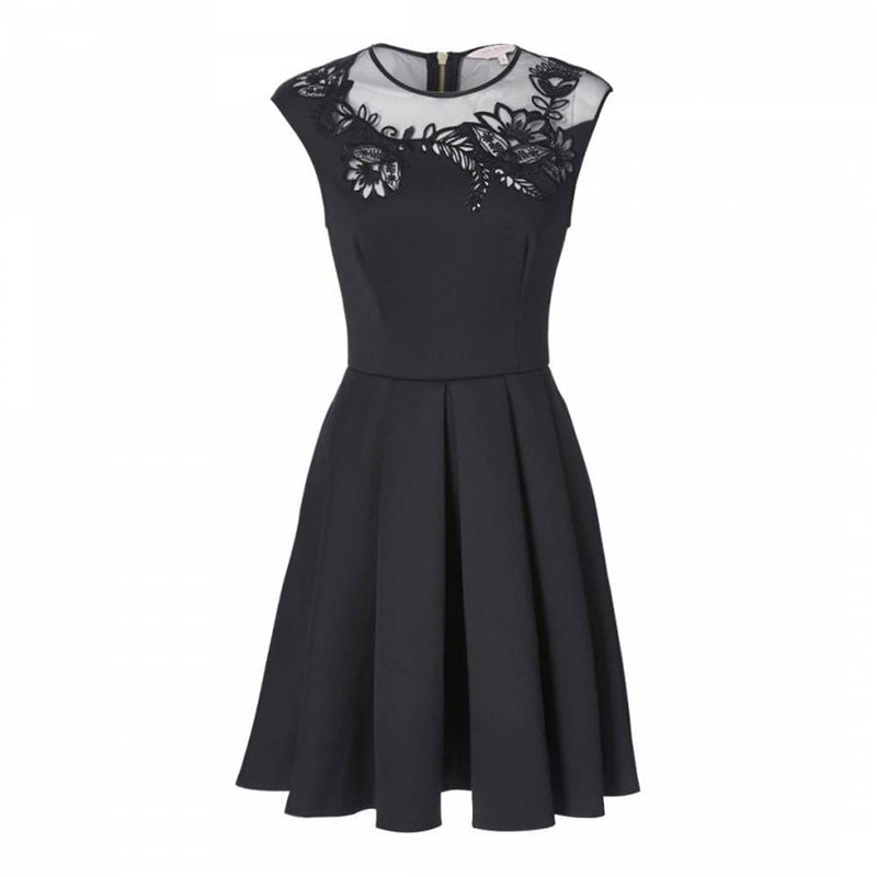 Ted Baker Dollii Embroidered Lace Mesh Skater Dress RRP$275 - Zoom Boutique Store