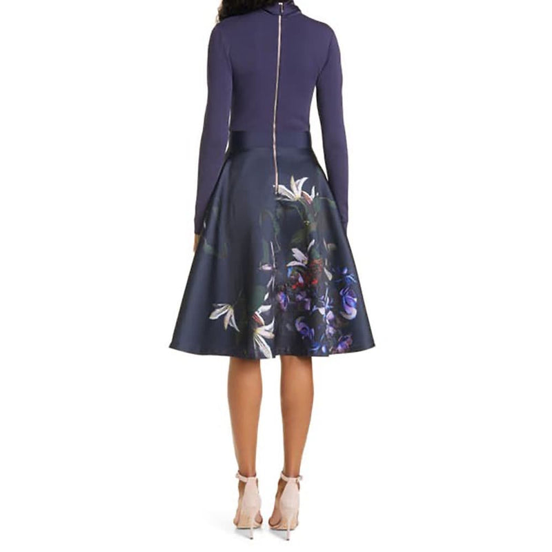 Ted Baker Dominaa Pomegranate Full Skirt Midi Dress Zoom Boutique Store dress Ted Baker Dominaa Pomegranate Full Skirt Midi Dress | Zoom Boutique