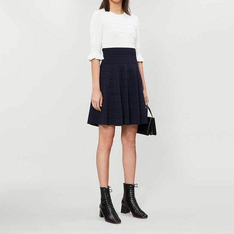 Ted Baker Dyana Jersey Frill Knitted Fit & Flare Dress RRP$252 - Zoom Boutique Store