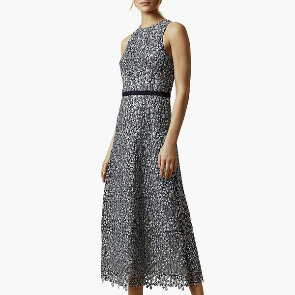 Ted Baker Edella Floral Lace  Midi Evening Dress $295 Zoom Boutique Store dress
