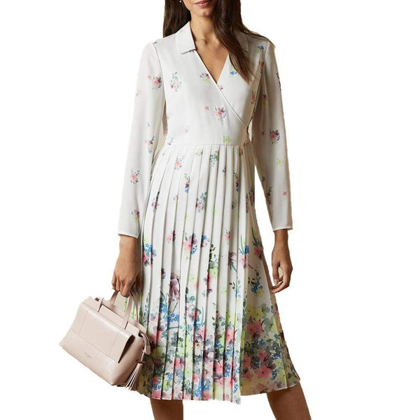 Ted Baker Ellian Pergola Pleated Skirt Midi Dress $329 0 Zoom Boutique Store dress