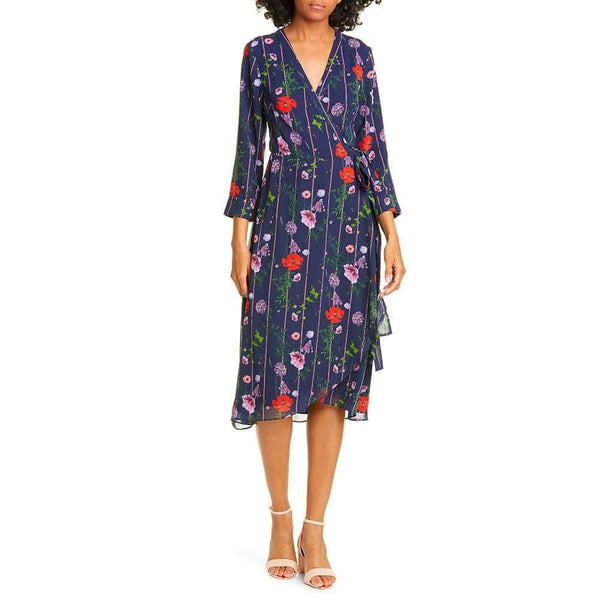 Ted Baker Elowisa Hedgerow V Neck Wrap Dress RRP$349 Zoom Boutique Store dress Ted Baker Elowisa Hedgerow V Neck Wrap Dress | Zoom Boutique