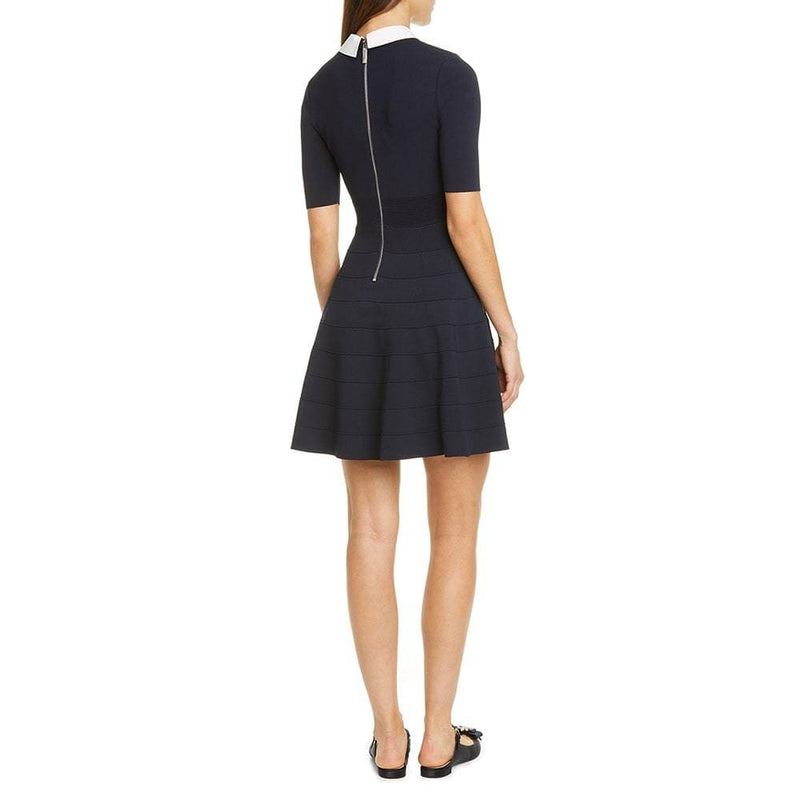 Ted Baker Embellished Collar Knit Fit & Flare Dress RRP$279 Zoom Boutique Store dress Ted Baker Embellished Collar Knit Fit & Flare Dress | Zoom Boutique
