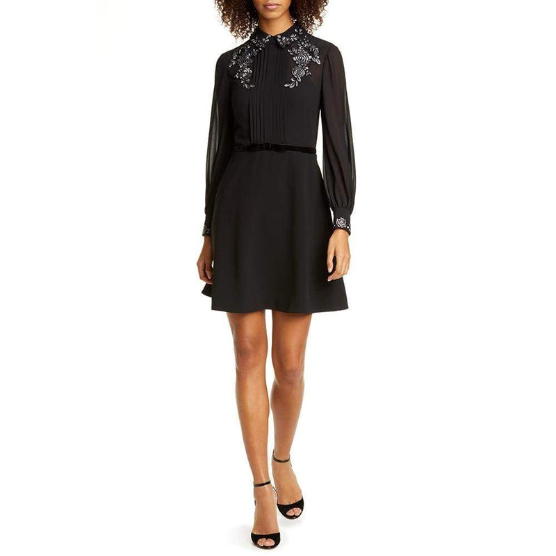 Ted Baker Embroidered Collar Long Sleeve Shirt Dress $365 - Zoom Boutique Store