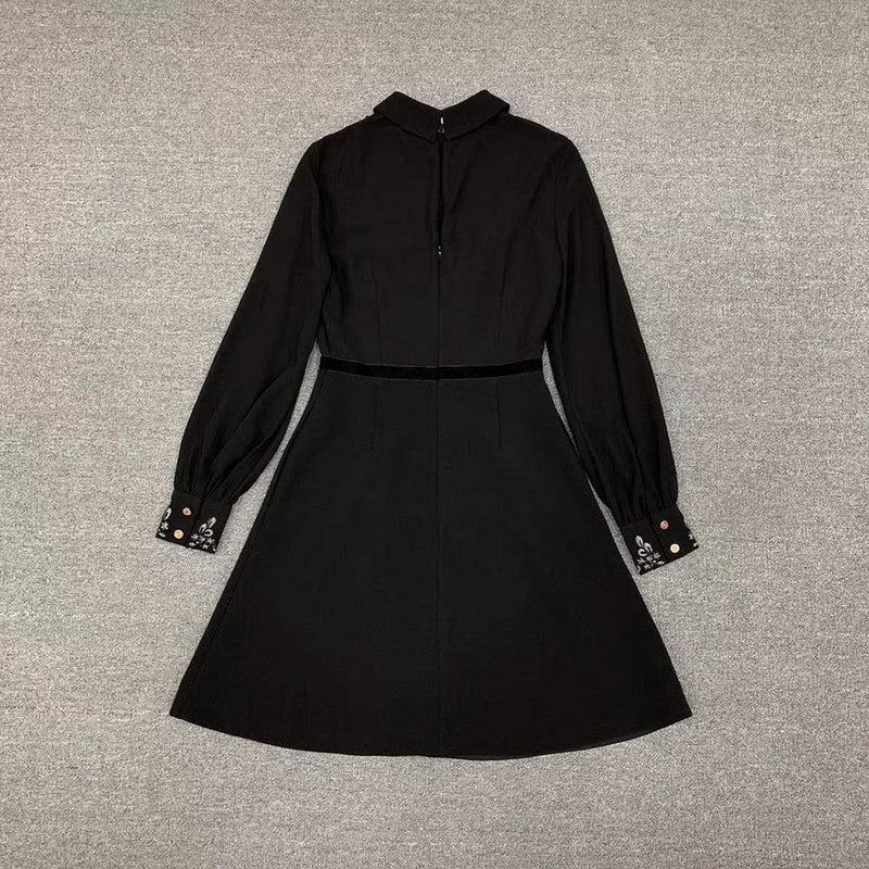 Ted Baker Embroidered Collar Long Sleeve Shirt Dress RRP$365 - Zoom Boutique Store