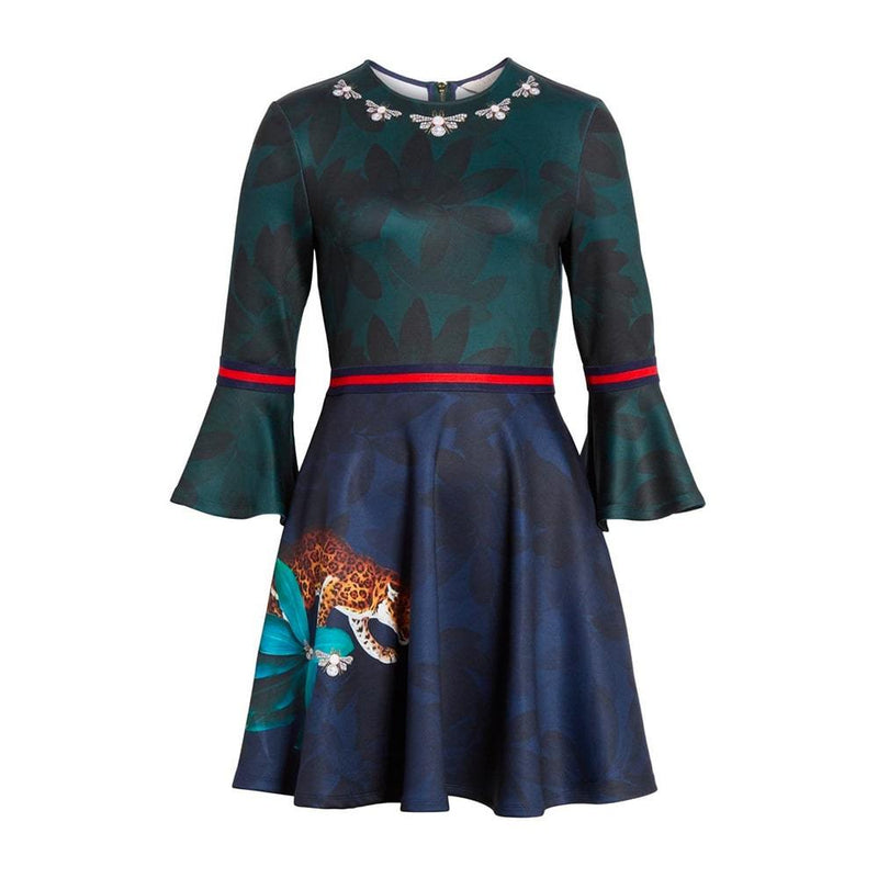 Ted Baker Emileen Houdiini Mash Up Skater Dress RRP$289 0 Zoom Boutique Store dress Ted Baker Emileen Houdiini Mash Up Skater Dress | Zoom Boutique