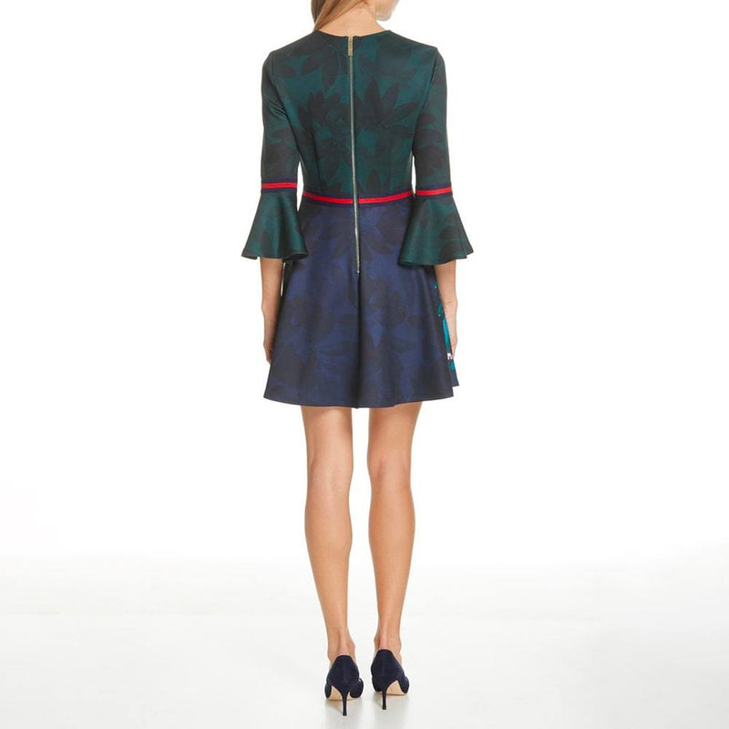 Ted Baker Emileen Houdiini Mash Up Skater Dress RRP$289 Zoom Boutique Store dress Ted Baker Emileen Houdiini Mash Up Skater Dress | Zoom Boutique