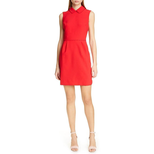 Ted Baker Ezzy Scalloped Detail Sheath Dress RRP$258 - Zoom Boutique Store