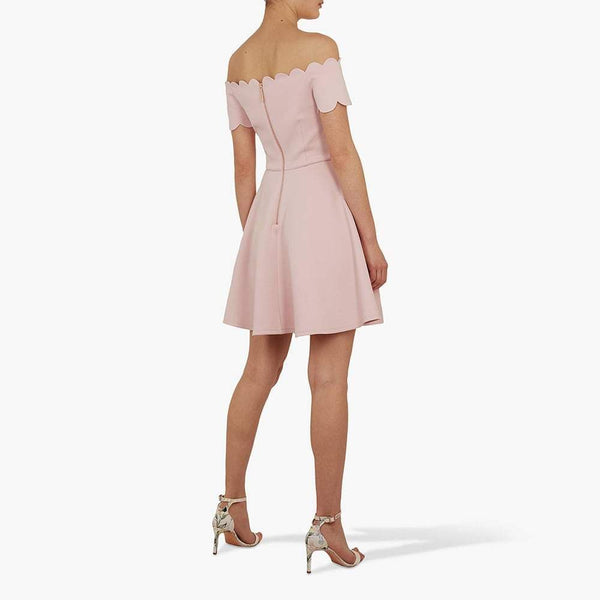 Ted Baker Fellama Bardot Scalloped Skater Mini Dress Zoom Boutique Store dress Ted Baker Fellama Bardot Scalloped Skater Mini Dress | Zoom Boutique