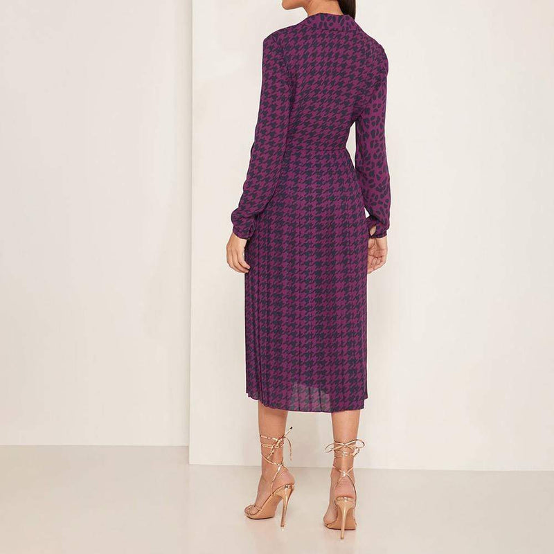 Ted Baker Folita All Over Print Pleated Wrap Midi Dress $239 Zoom Boutique Store dress