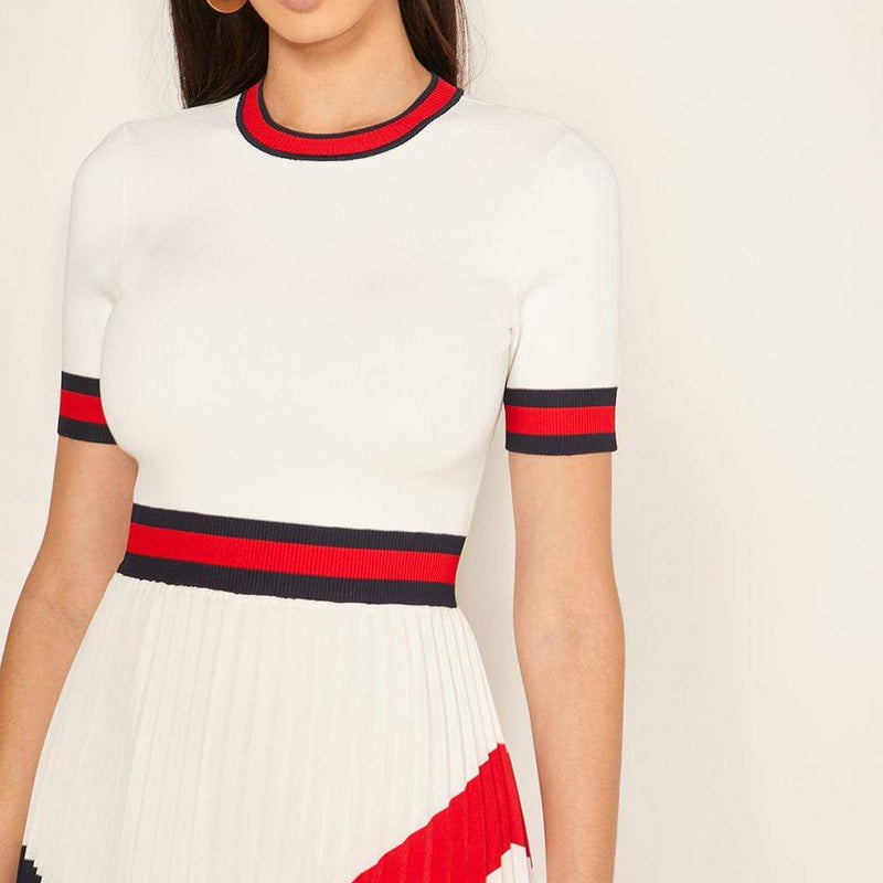 Ted Baker Fynlie Knitted Sweater Pleated Skirt Dress RRP$320 - Zoom Boutique Store