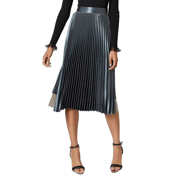 Ted Baker Glaycie Contrast Panel Pleated Midi Skirt $245 0 Zoom Boutique Store skirt