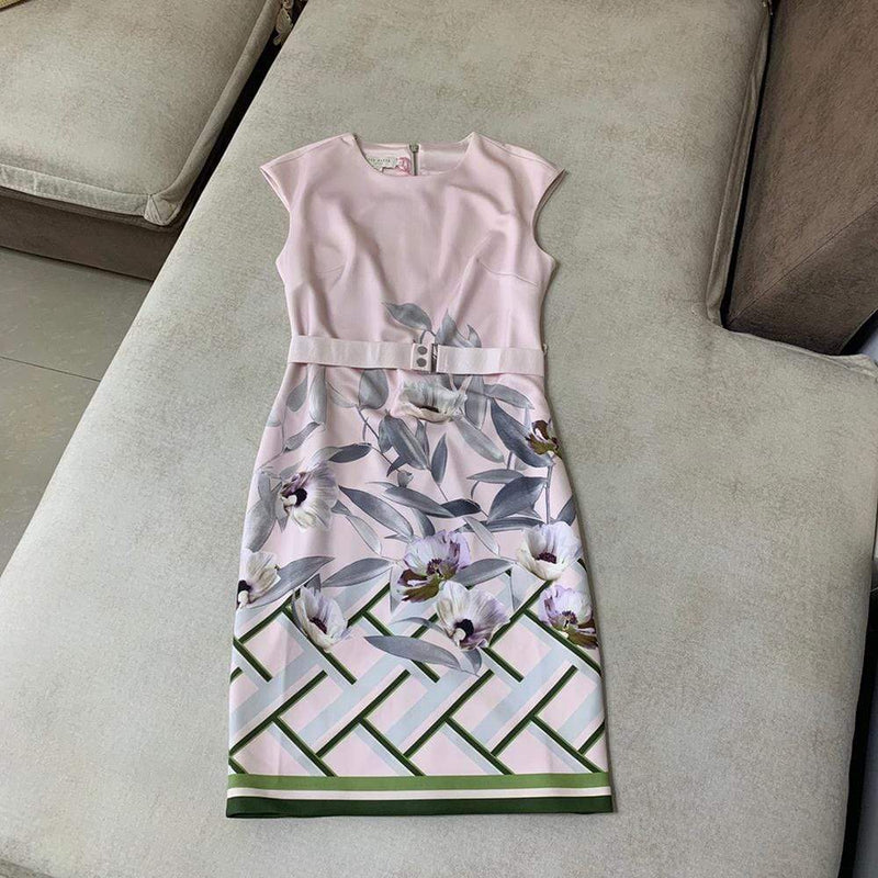 Ted Baker Hailey Everglade Cap Sleeve Bodycon Dress RRP$279 - Zoom Boutique Store