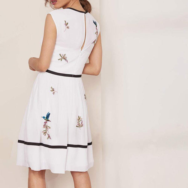 Ted Baker IINA Highgrove Embroidered Bow Detail Dress $395 Zoom Boutique Store dress