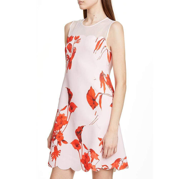 Ted Baker Jaazmin Fantasia Scallop Mini Dress $295 Zoom Boutique Store dress