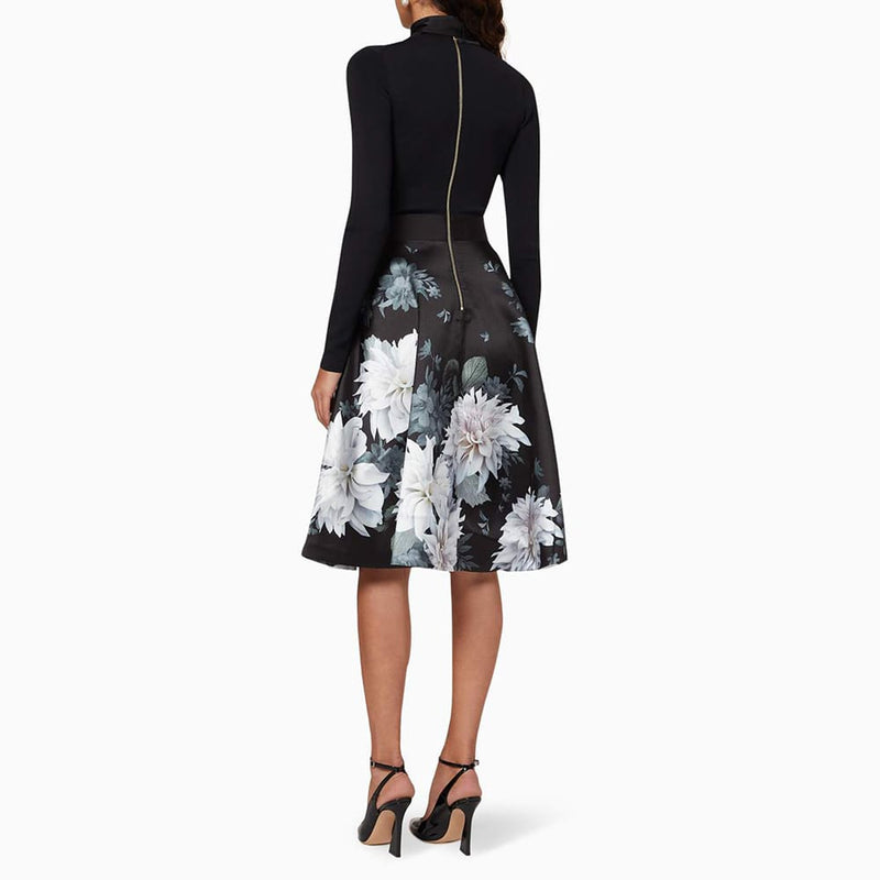 Ted Baker Jordynn Knitted Clove Full Skirted Fit & Flare Dress RRP$365 Zoom Boutique Store dress Ted Baker Jordynn Knitted Clove Skirted Fit Flare Dress| Zoom Boutique