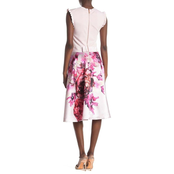 Ted Baker Kayytee Splendour Ruffle Sleeve Bow Midi Dress RRP$365 Zoom Boutique Store dress Ted Baker Kayytee Splendour Ruffle Sleeve Midi Dress | Zoom Boutique